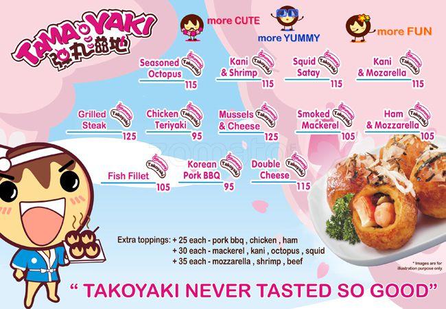 takoyaki menu